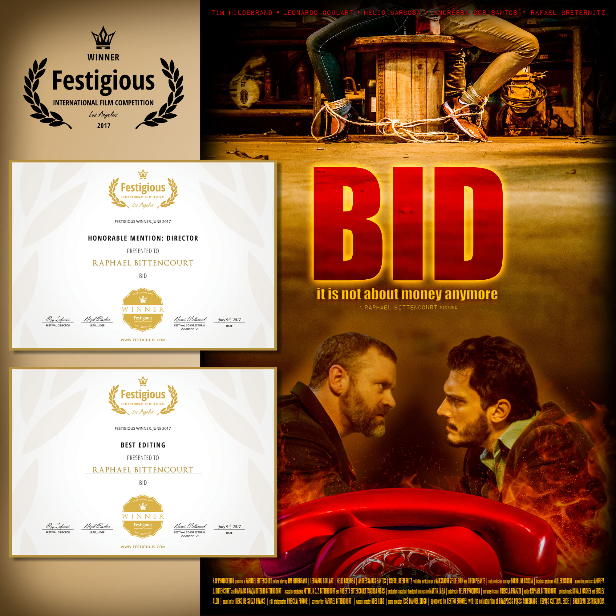 The poster of BID and it's most recent laurels.